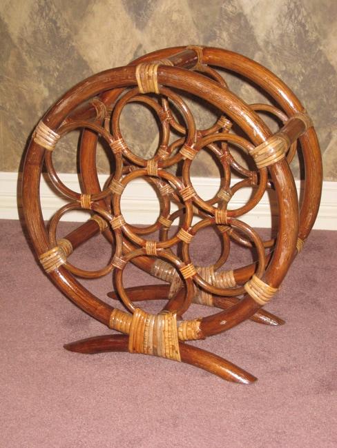 Rattan Round Wine Rack