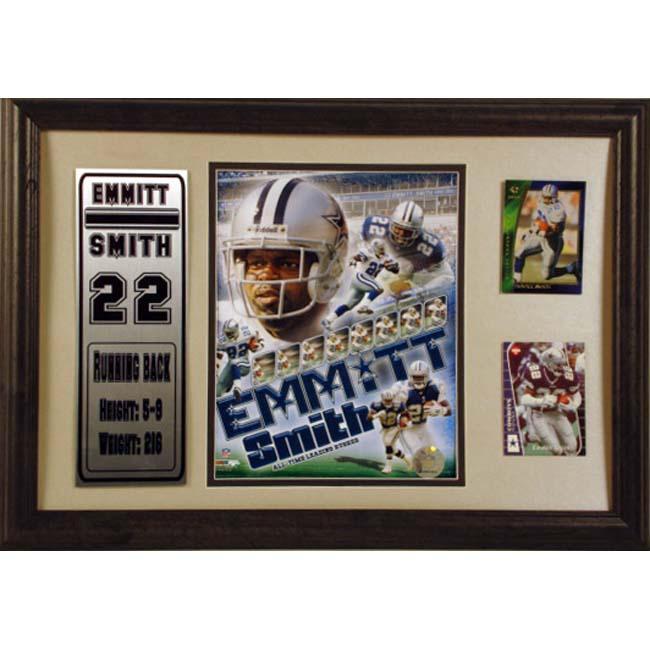 Emmitt Smith 12x18 Custom Framed Print and Cards