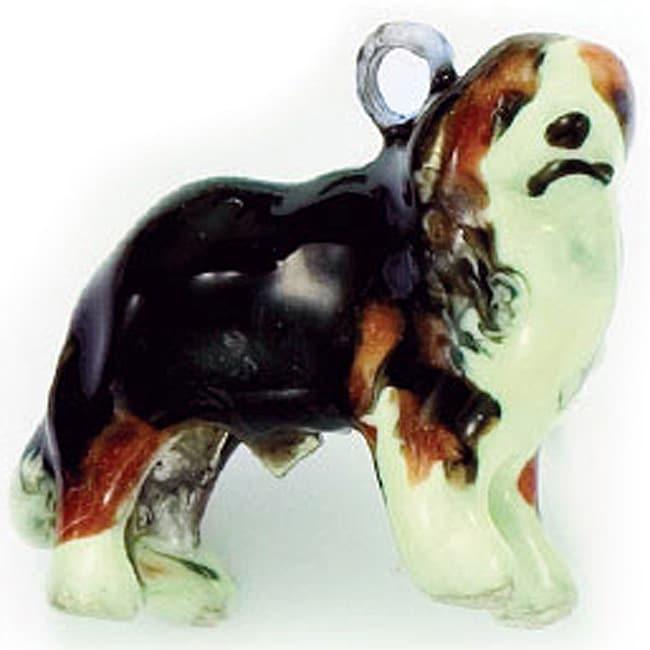 Best in Show Sterling Silver Enamel Bernese Mountain Dog Charm