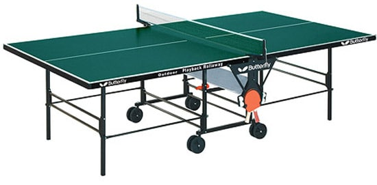 Shop Butterfly Outdoor Playback Rollaway Ping Pong Table