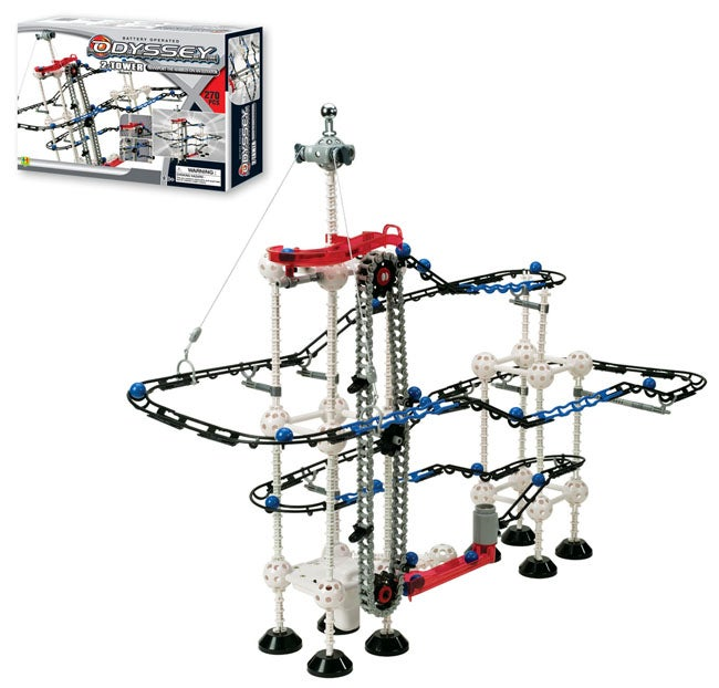 Odyssey Marble Roller Coaster and Elevator Play Set