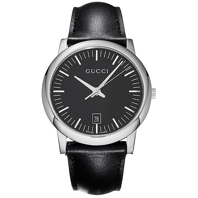 700b2a7c1b9 Shop Gucci 5600 Series Men s Quartz Watch - Free Shipping Today - Overstock  - 3184107