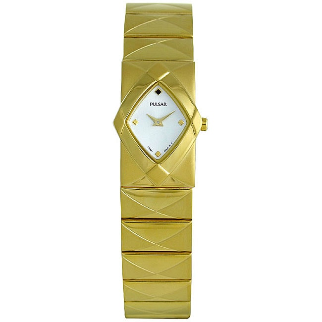 Pulsar Women's Goldtone Steel White Dial Watch