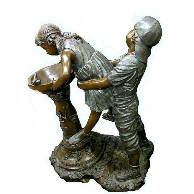 Bronze Boy Holding a Girl Up