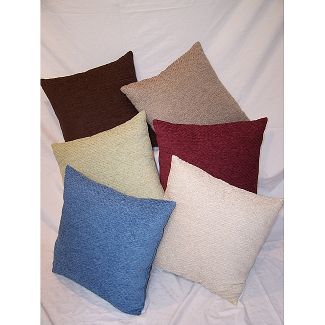 Pebble Chenille Soft Throw Pillows (Set of 2)