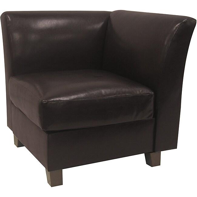 Clayton Vinyl Armless Corner Chair Free Shipping Today
