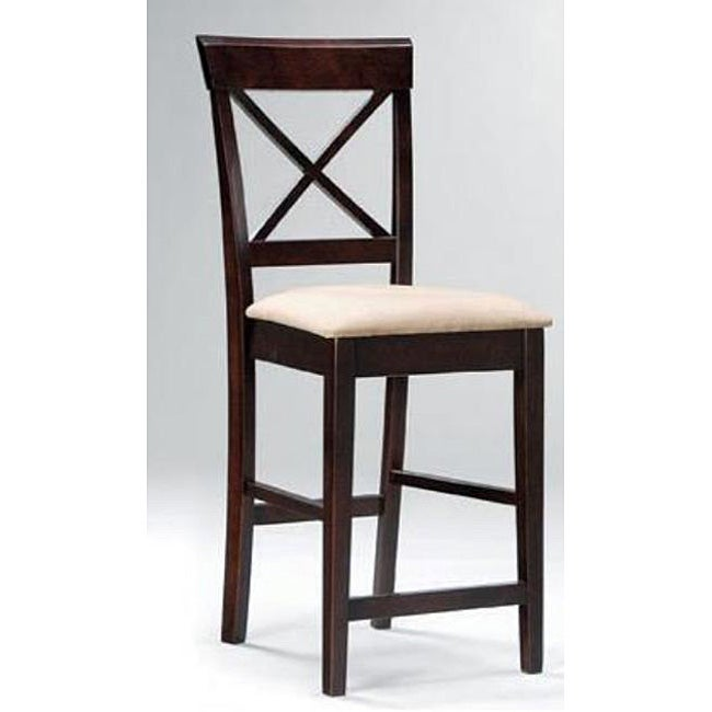 Shop Cross Back Counter Stools Set Of 2 Free Shipping