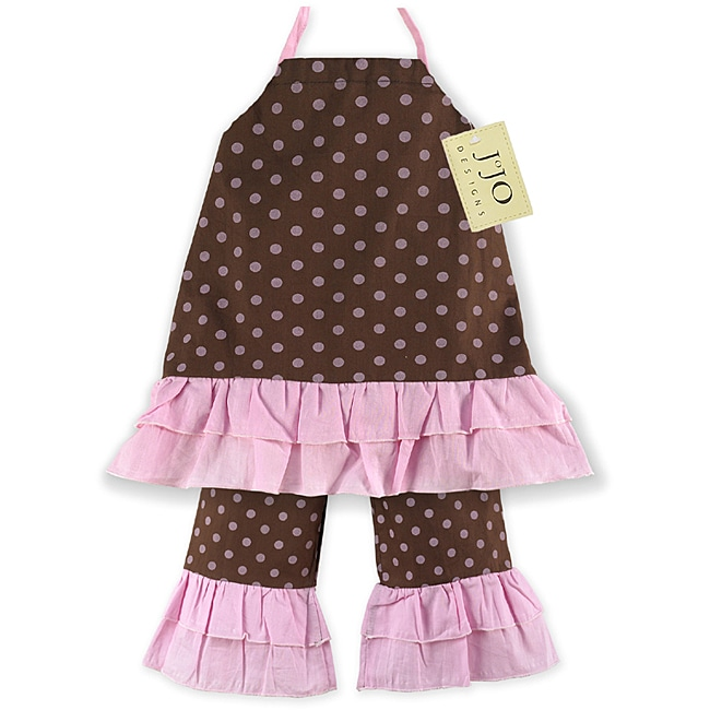 Sweet JoJo Designs Infant Girl's 2-piece Pink/ Brown Polka Dot Pants Set