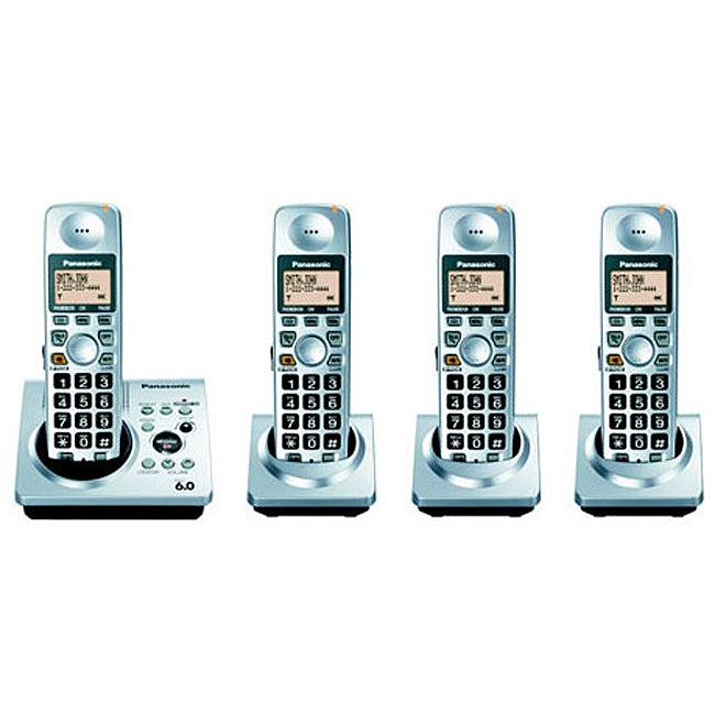 Panasonic KX-TG1034 Cordless Phone System (Refurbished)