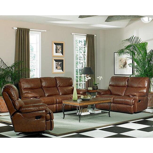 Baker Leather Sofa Loveseat And Rocker Recliner