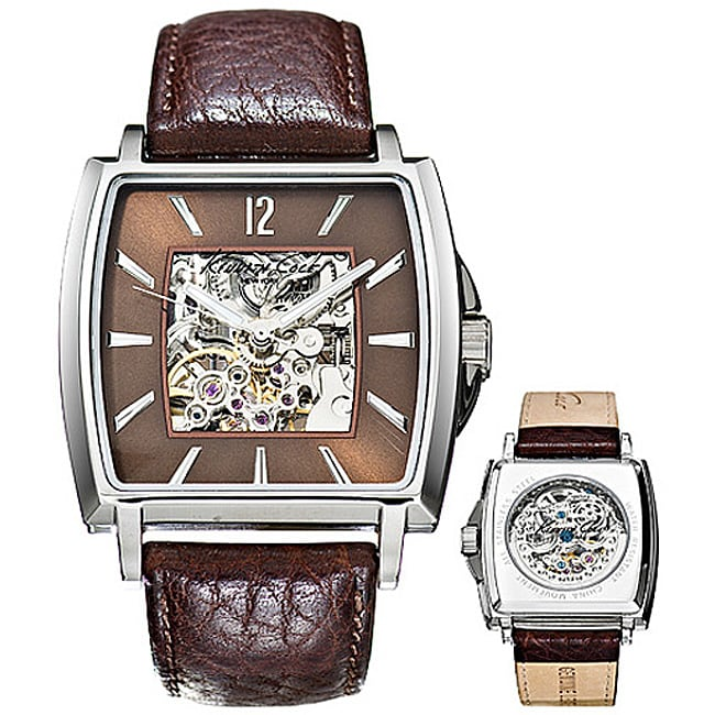 8aba388c7 Shop Kenneth Cole Men's Skeleton Dial Automatic Watch - Free Shipping Today  - Overstock - 3231954