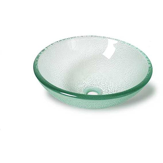 Dew Modern Glass Vessel Bathroom Sink