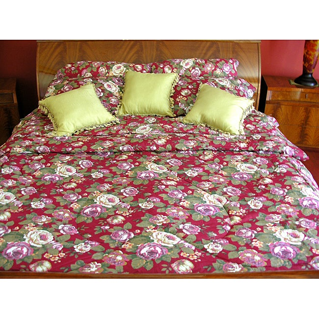 Floral Cloud 7-piece Queen Comforter Set