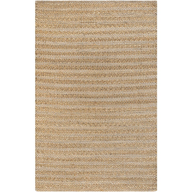 Handmade Mandara Collection Tan Rug