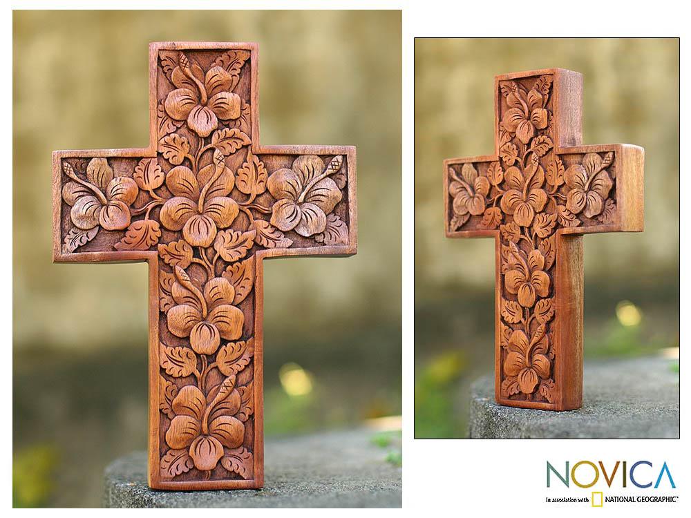 'Hibiscus' Mahogany Cross (Indonesia)