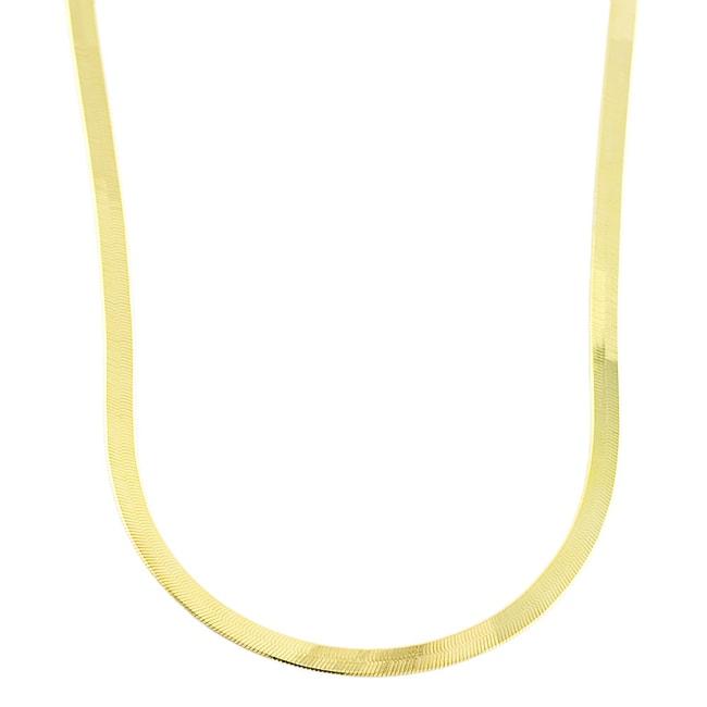 10k Yellow Gold 18-inch Herringbone Necklace
