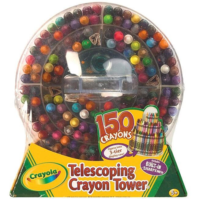 Crayola Telescoping Crayon Tower with Built-in Sharpener