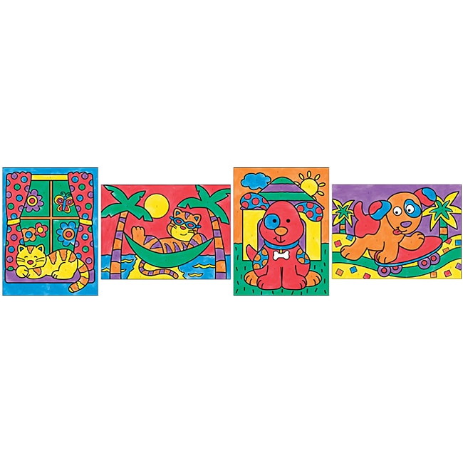 Alex Toys 6-Color Paint By Number Kid's Craft Kit