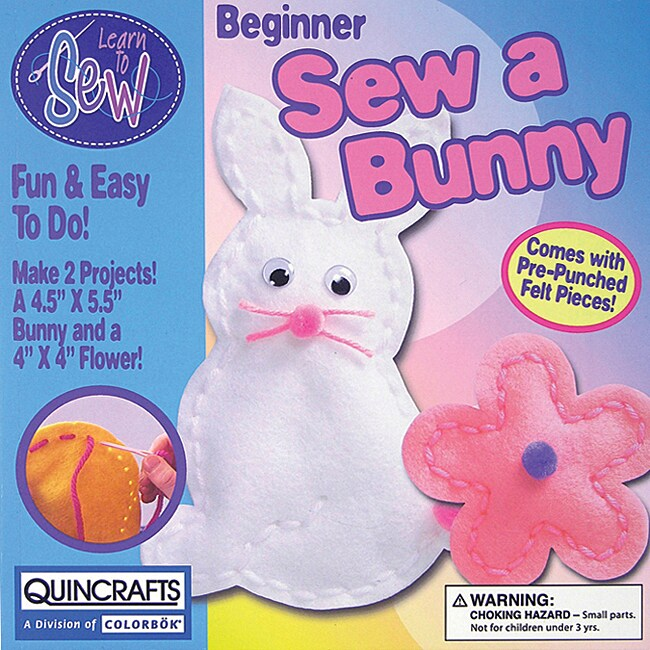 Bunny and Flower Learn To Sew Kids' Craft Kit