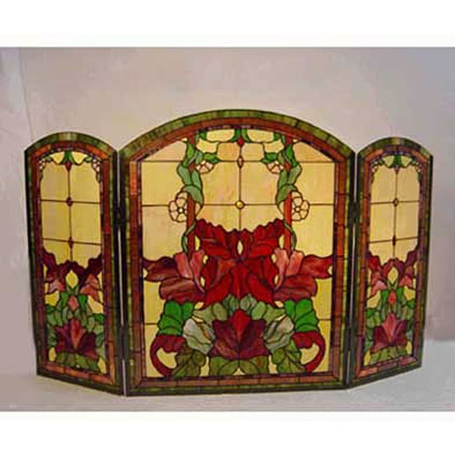 Tiffany Style Stained Glass Fireplace Screen Free Shipping Today 11372482