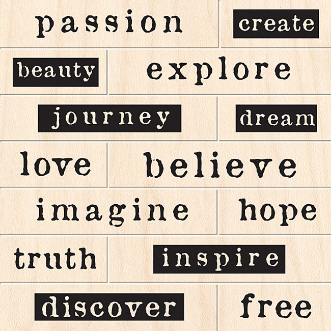 Inkadinkado 'Creative Words' Wood Peg Stamp Set