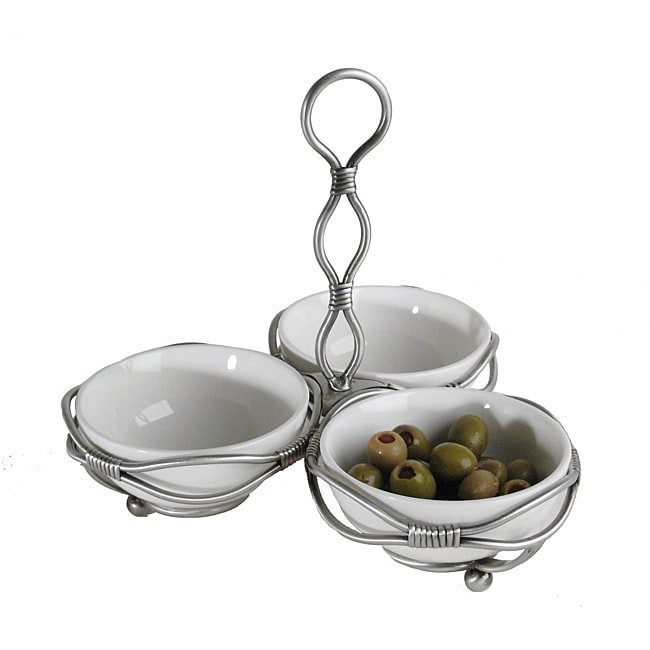 Mini-bowl Server on Tie-up Metal Stand