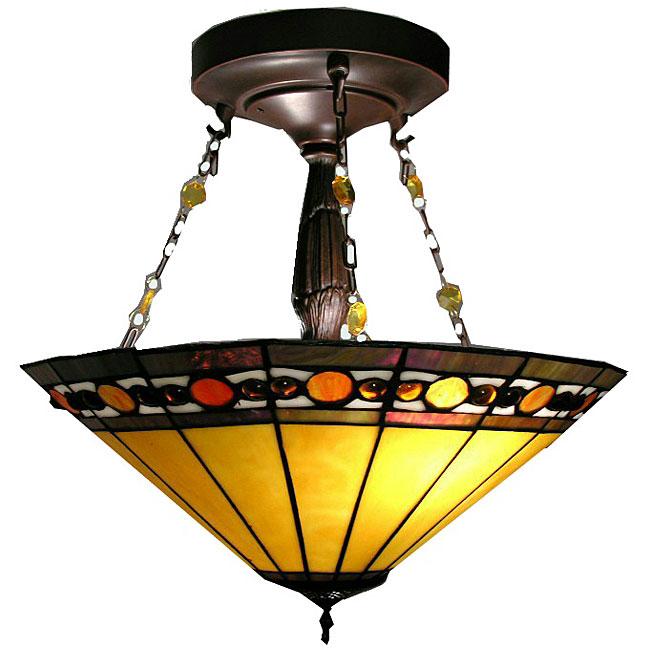 Warehouse of Tiffany Tiffany-style Jewel Hanging Lamp, Ye...