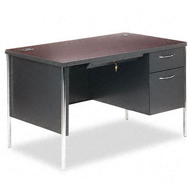 hon 34000 series 48 inch right pedestal steel desk free shipping