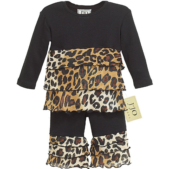 Sweet Jojo Designs 2-piece Leopard Infant Girl Outfit