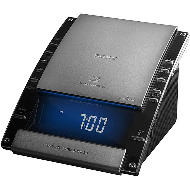 Sony ICFCD7000 Black Alarm Clock CD Radio (Refurbished)