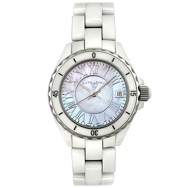 Shop Swiss Legend Karamica Womens White Ceramic Watch Free
