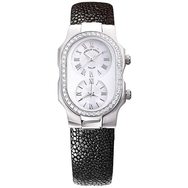 Philip stein teslar women 39 s diamond black watch free shipping today 11402116 for Philip stein watches