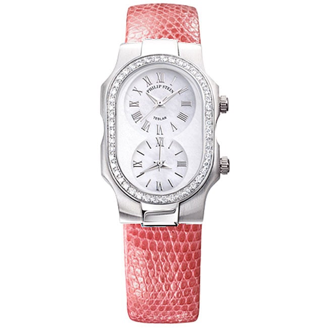 Philip Stein Teslar Diamond Lizard Strap Watch Free