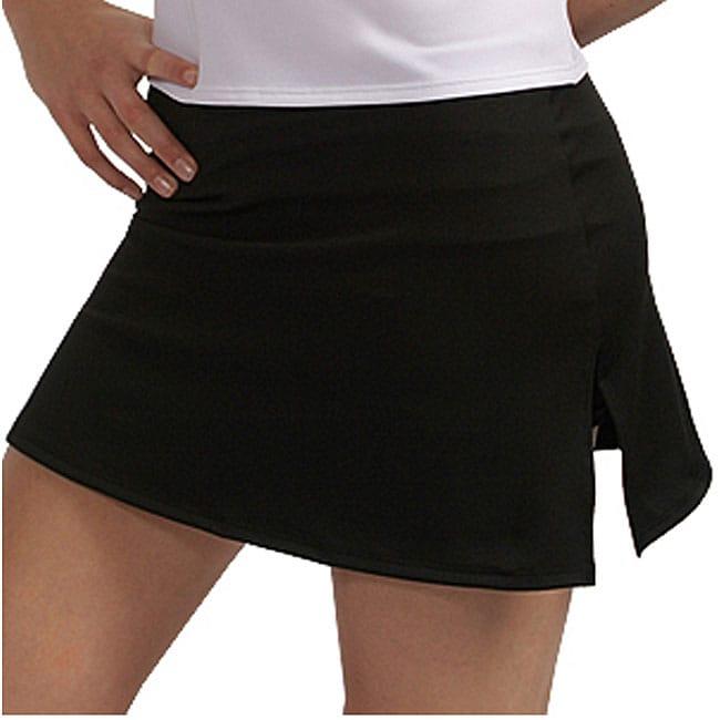 Women's A-line Black Skort