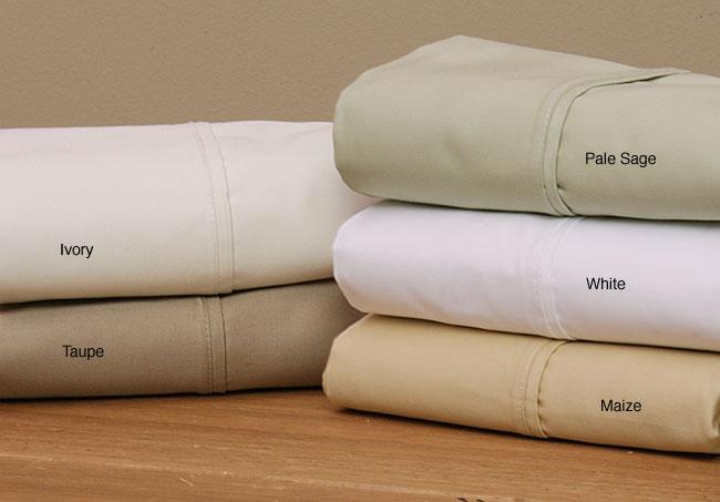 1000 Thread Count 6-piece Solid Cotton Sheet Set