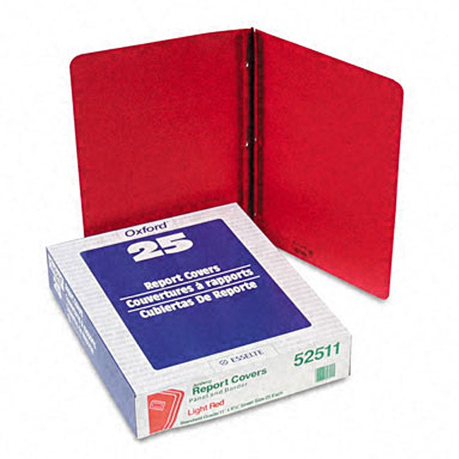 Red Leatherette Front Report Covers (Pack of 25) (Panel a...
