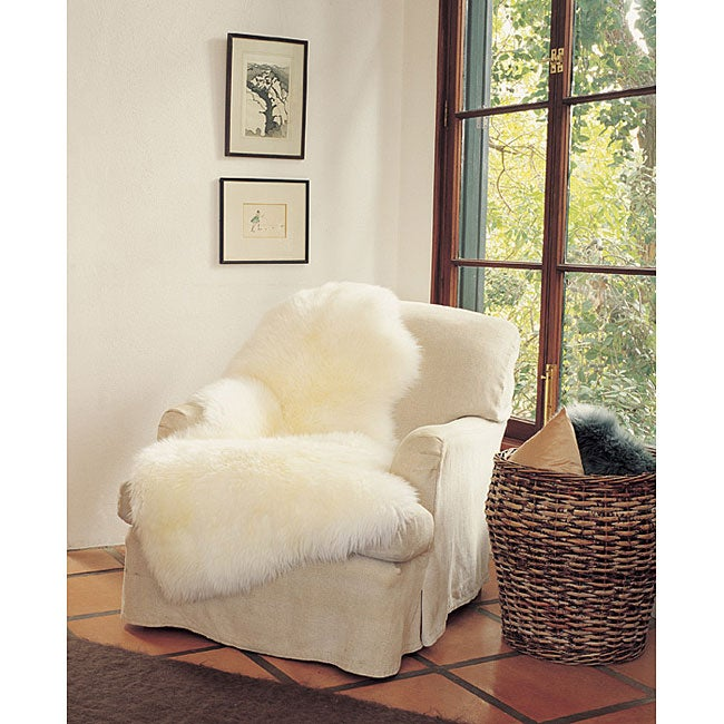 Bowron Long Wool Ivory Sheepskin Throw (4u0026#x27; ...