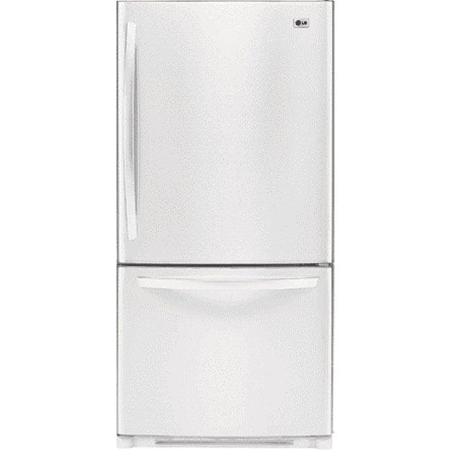 Lg White Bottom Freezer 22 Cubic Foot Refrigerator Free