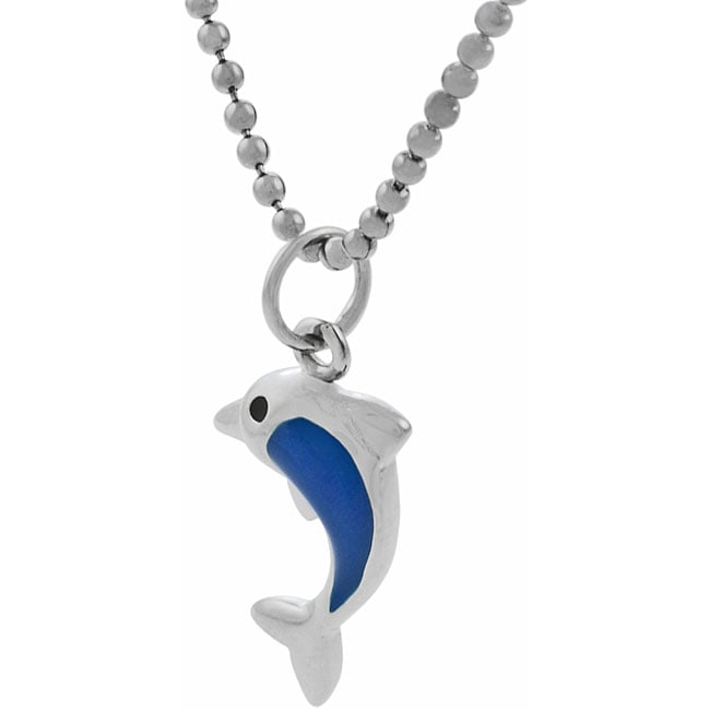 Journee Sterling Silver Child's Dolphin Necklace