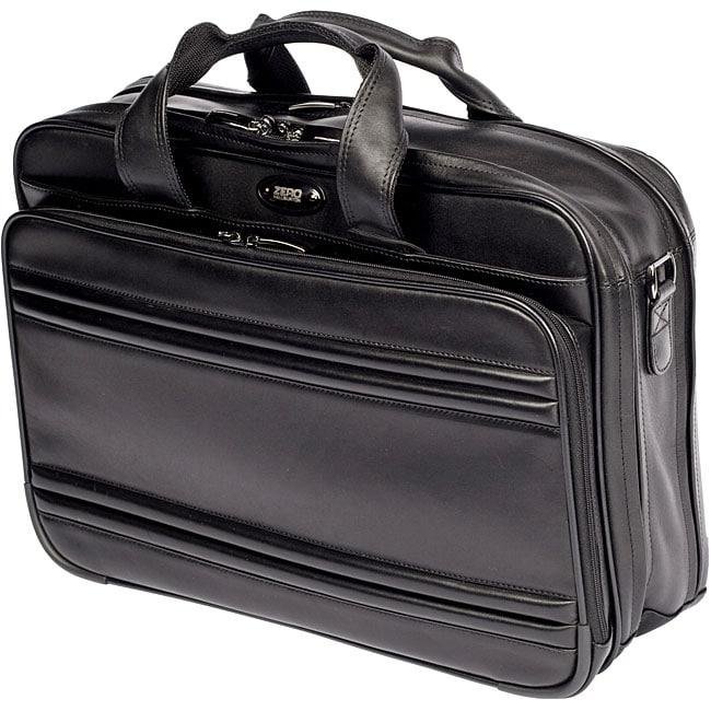 Shop Zero Halliburton Leather Laptop Briefcase Free