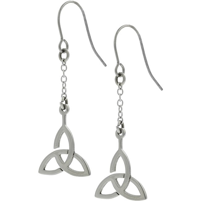 Surgical Steel Celtic Triangle Earrings