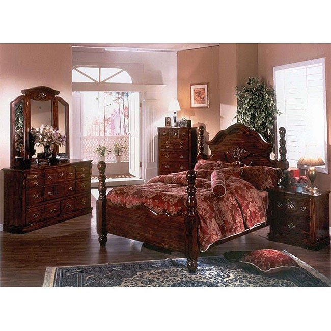 Cannonball Dark Pine 5 Piece King Bedroom Set Free