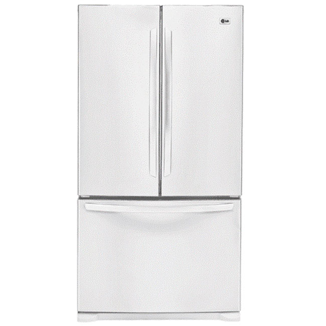 Lg White French Door 25 Cubic Foot Refrigerator Free