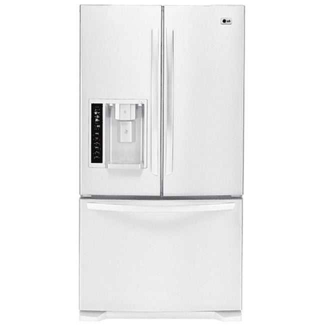 LG Three-door White Refrigerator