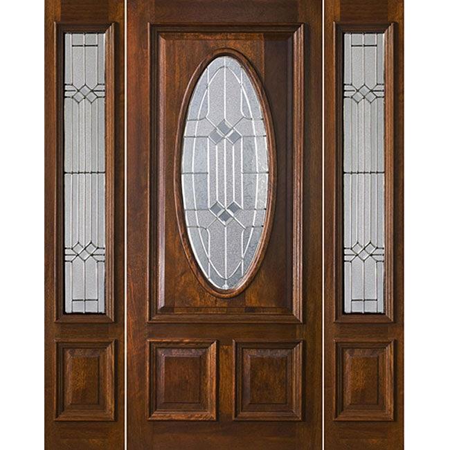 Mission Oval Mahogany Exterior Door Free Shipping Today 11414328