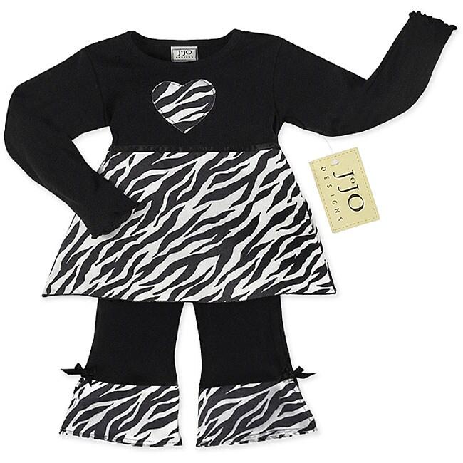 Sweet JoJo Designs Baby Girl's Zebra Print Outfit