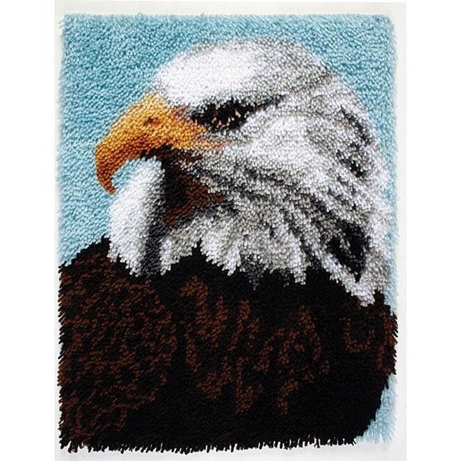 Wonderart Bald Eagle Latch Hook Kit