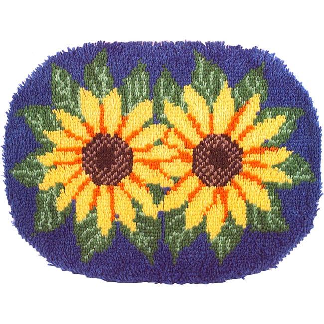 Wonderart Sunflowers Latch Hook Rug Kit
