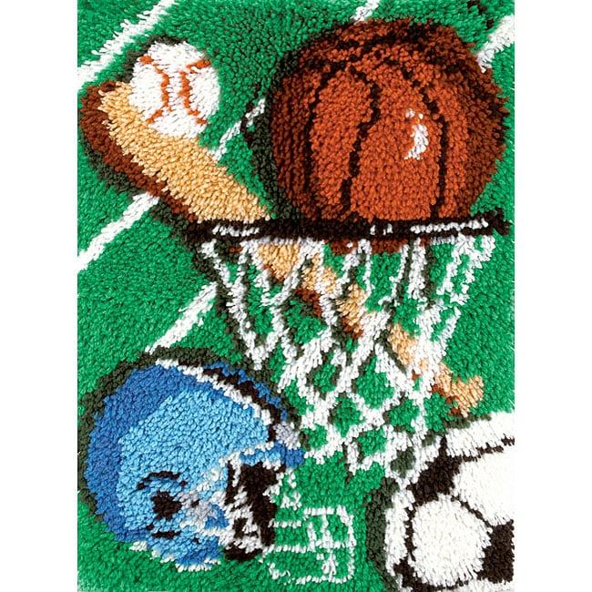 Shop Natura Sports Latch Hook Rug Kit Free Shipping On