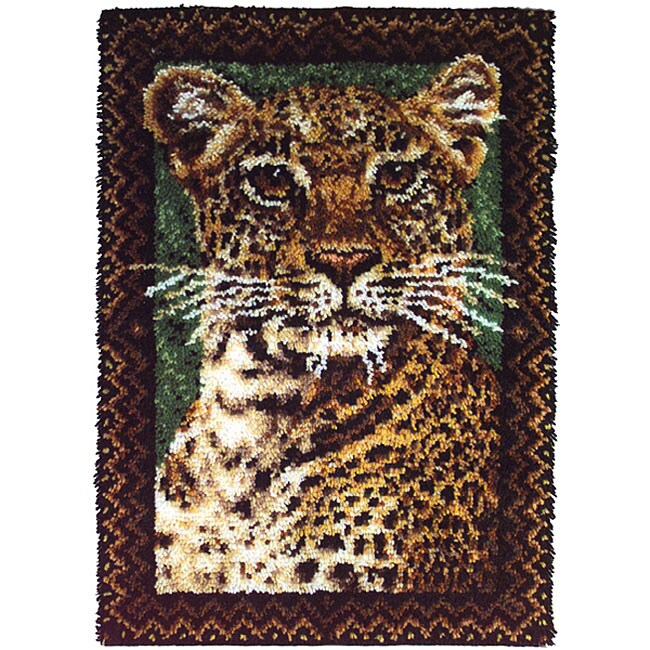 Wonderart Leopard Latch Hook Rug Kit